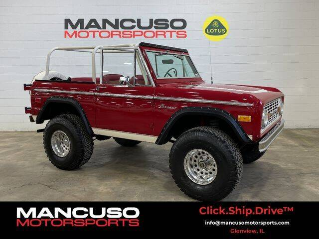 1974 Ford Bronco for sale at Mancuso Motorsports in Glenview IL