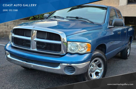2004 Dodge Ram Pickup 1500 for sale at COAST AUTO GALLERY in San Diego CA
