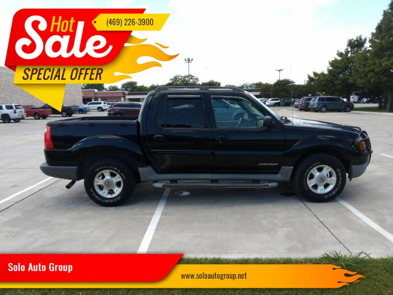 2001 Ford Explorer Sport Trac for sale at Solo Auto Group in Mckinney TX