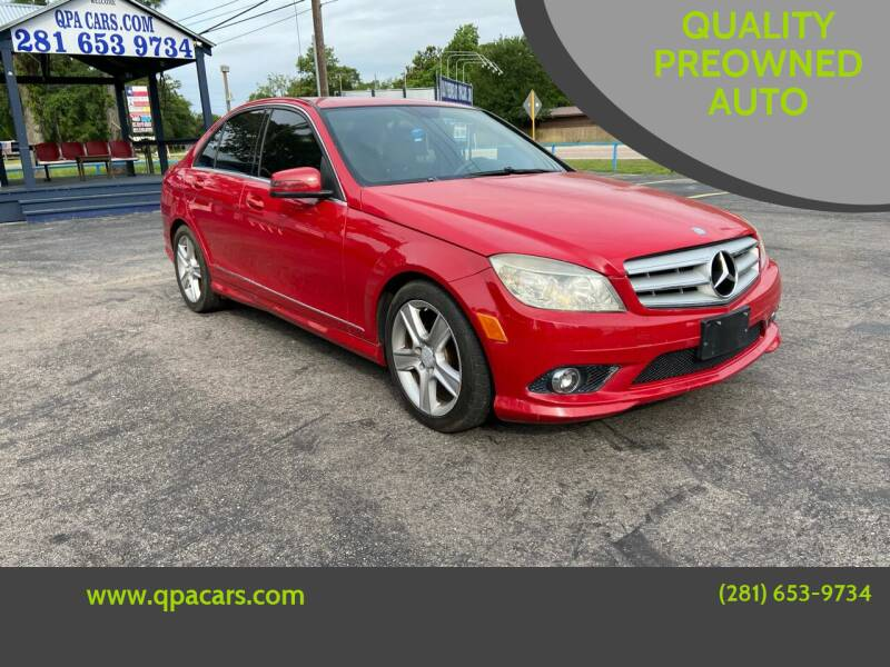 2010 Mercedes-Benz C-Class for sale at QUALITY PREOWNED AUTO in Houston TX