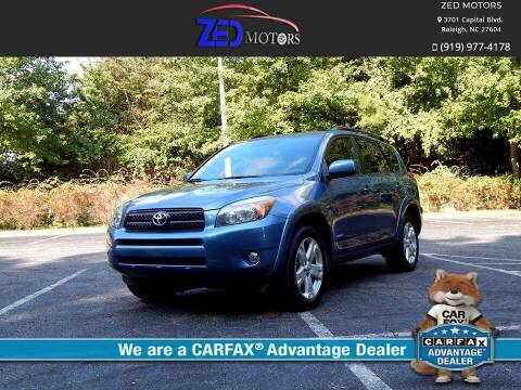 2007 Toyota RAV4 for sale at Zed Motors in Raleigh NC