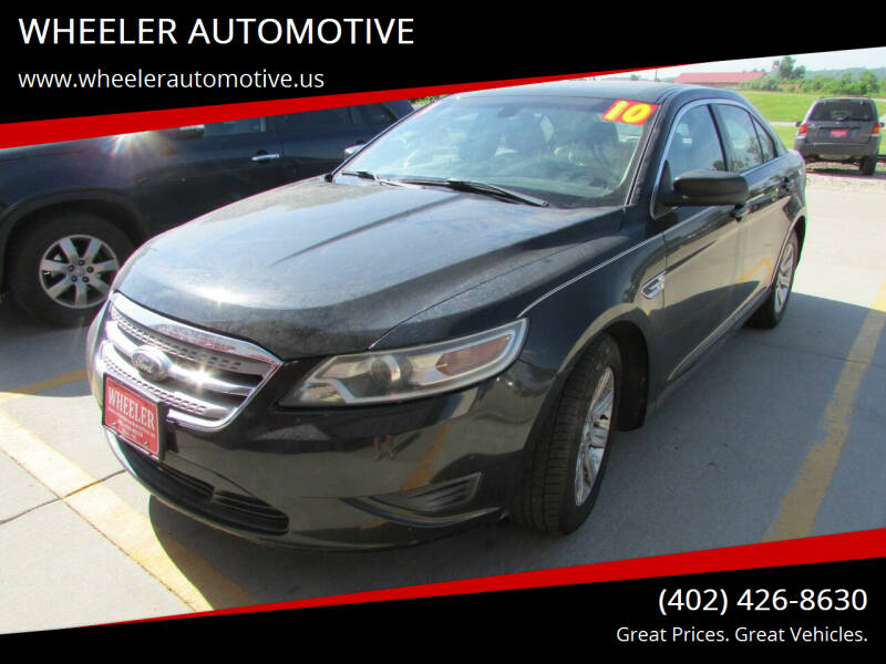2010 Ford Taurus for sale at WHEELER AUTOMOTIVE in Blair NE