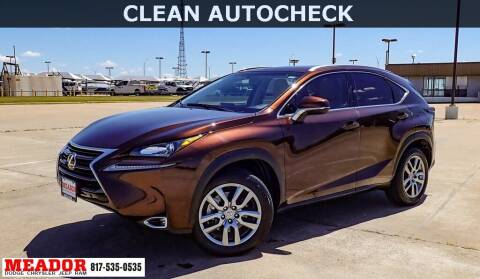 2016 Lexus NX 200t for sale at Meador Dodge Chrysler Jeep RAM in Fort Worth TX