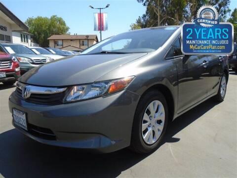 2012 Honda Civic for sale at Centre City Motors in Escondido CA