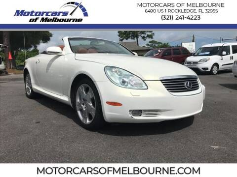 2003 Lexus SC 430 for sale at Motorcars of Melbourne in Rockledge FL