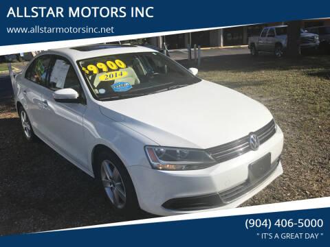 2014 Volkswagen Jetta for sale at ALLSTAR MOTORS INC in Middleburg FL