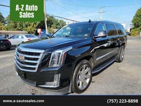 2015 Cadillac Escalade ESV for sale at A-Z Auto Sales in Newport News VA