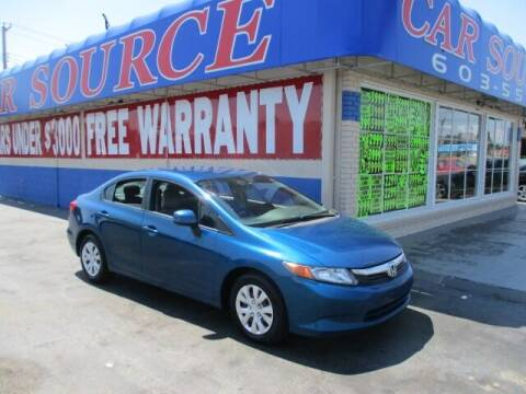 2012 Honda Civic for sale at CAR SOURCE OKC - CAR ONE in Oklahoma City OK