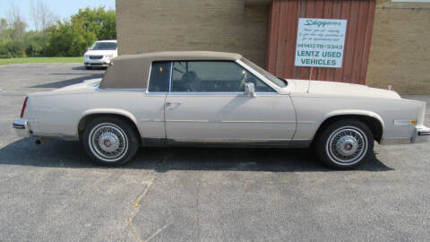 1984 Cadillac Eldorado for sale at LENTZ USED VEHICLES INC in Waldo WI
