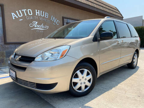 2004 Toyota Sienna for sale at Auto Hub, Inc. in Anaheim CA