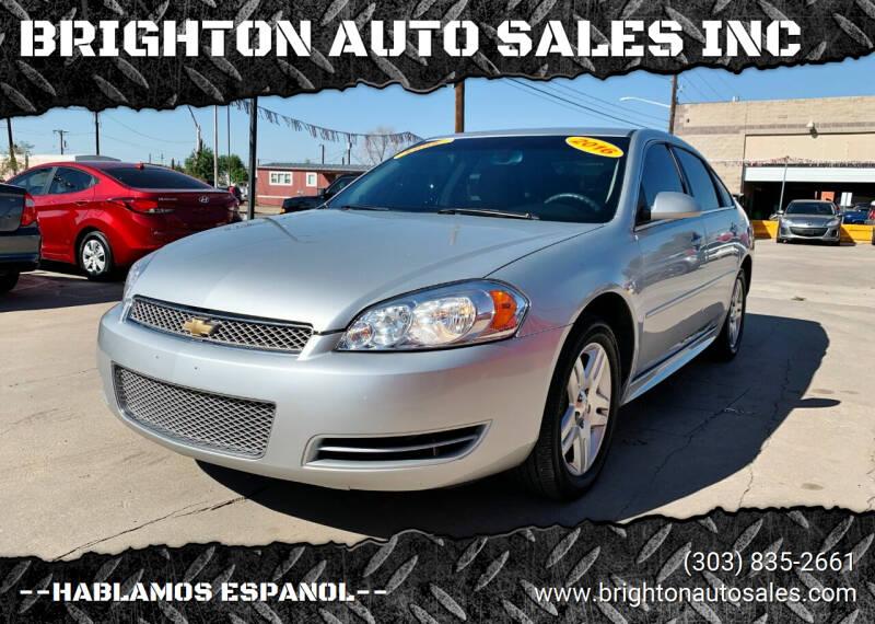 2016 Chevrolet Impala Limited for sale at BRIGHTON AUTO SALES INC in Brighton CO