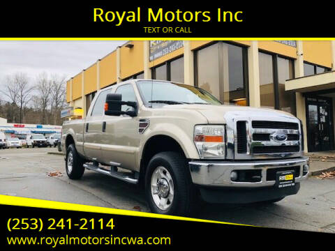 2010 Ford F-250 Super Duty for sale at Royal Motors Inc in Kent WA