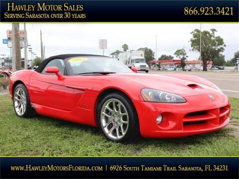2003 Dodge Viper for sale at Hawley Motor Sales in Sarasota FL