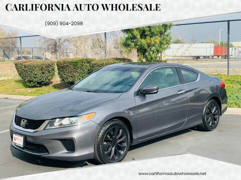 2013 Honda Accord for sale at CARLIFORNIA AUTO WHOLESALE in San Bernardino CA
