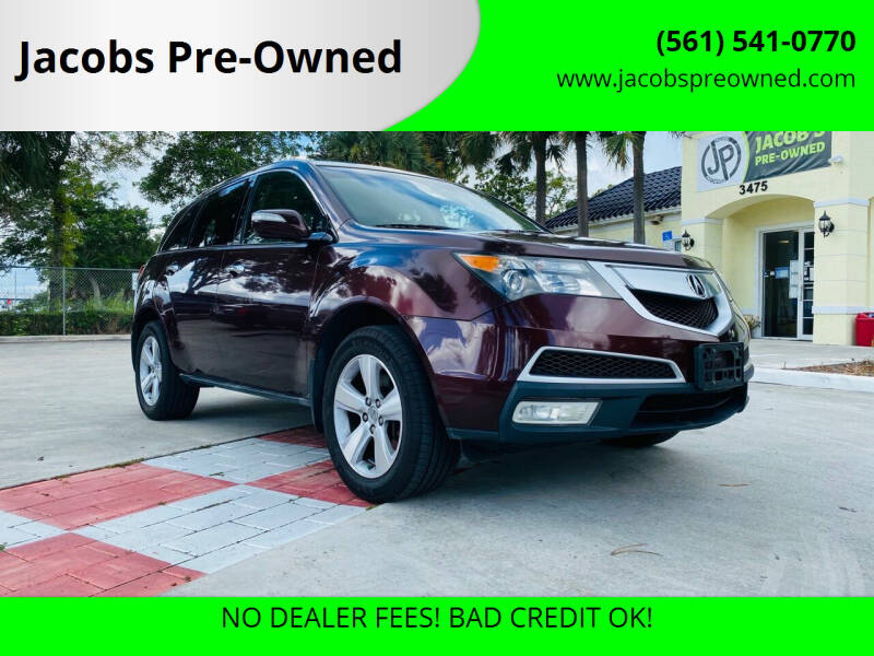 2010 Acura MDX for sale at Jacobs Pre-Owned in Lake Worth FL