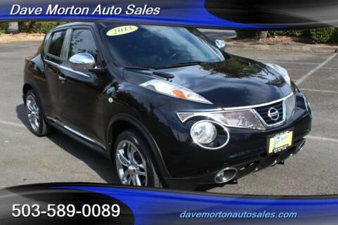 2013 Nissan JUKE for sale at Dave Morton Auto Sales in Salem OR