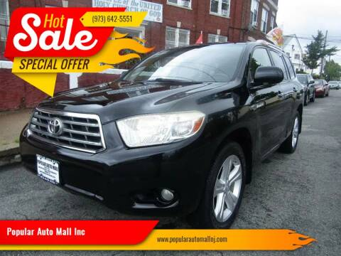 2008 Toyota Highlander for sale at Popular Auto Mall Inc in Newark NJ