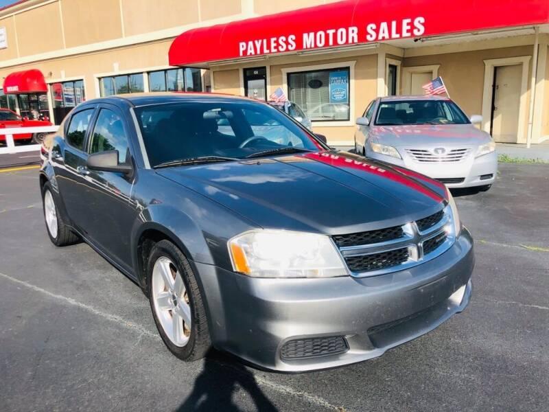 2013 Dodge Avenger for sale at Payless Motor Sales LLC in Burlington NC