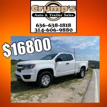 2016 Chevrolet Colorado for sale at CRUMP'S AUTO & TRAILER SALES in Crystal City MO