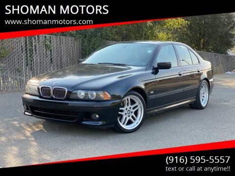 2003 BMW 5 Series for sale at SHOMAN MOTORS in Davis CA
