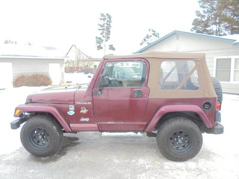 2002 Jeep Wrangler for sale at Engels Autos Inc in Ramsey MN