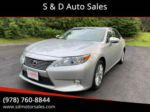 2013 Lexus ES 350 for sale at S & D Auto Sales in Maynard MA