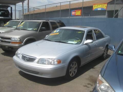 2001 Mazda 626 for sale at Town and Country Motors - 1702 East Van Buren Street in Phoenix AZ