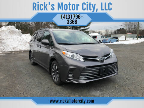 2019 Toyota Sienna for sale at Rick's Motor City, LLC in Springfield MA