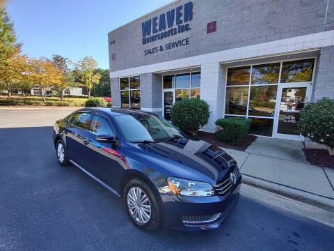2014 Volkswagen Passat for sale at Weaver Motorsports Inc in Cary NC