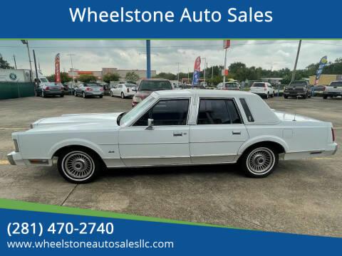 1989 Lincoln Town Car for sale at Wheelstone Auto Sales in La Porte TX