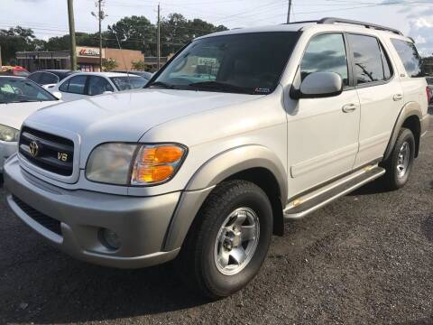 2002 Toyota Sequoia for sale at CAR STOP INC in Duluth GA