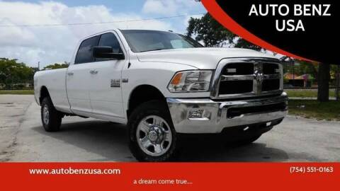 2014 RAM Ram Pickup 2500 for sale at AUTO BENZ USA in Fort Lauderdale FL