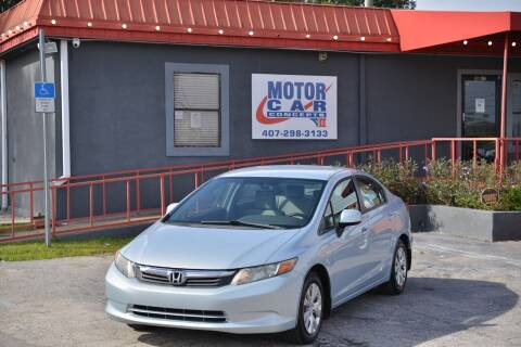 2012 Honda Civic for sale at Motor Car Concepts II - Kirkman Location in Orlando FL