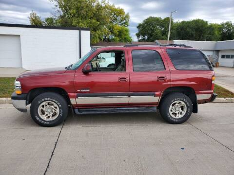 2001 Chevrolet Tahoe for sale at GOOD NEWS AUTO SALES in Fargo ND