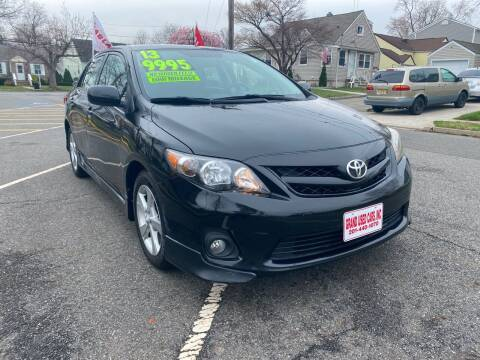 2013 Toyota Corolla for sale at GRAND USED CARS  INC in Little Ferry NJ