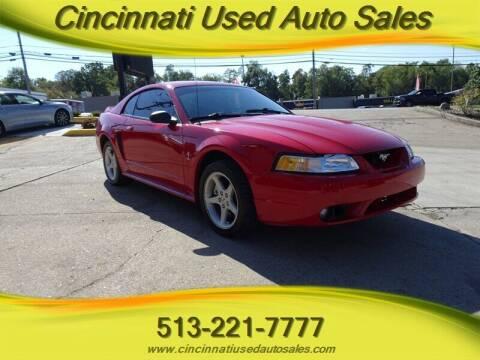 1999 Ford Mustang SVT Cobra for sale at Cincinnati Used Auto Sales in Cincinnati OH