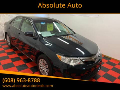 2012 Toyota Camry for sale at Absolute Auto in Baraboo WI