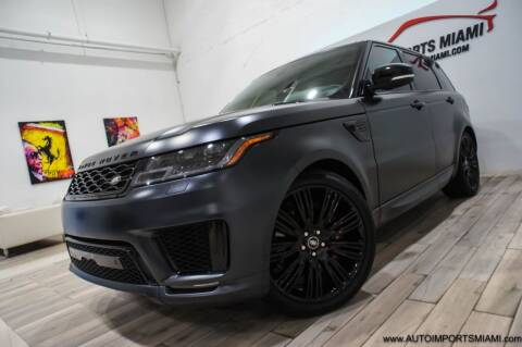 2019 Land Rover Range Rover Sport for sale at AUTO IMPORTS MIAMI in Fort Lauderdale FL