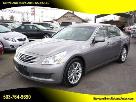 2008 Infiniti G35 for sale at Steve & Sons Auto Sales in Happy Valley OR
