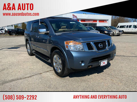 2012 Nissan Armada for sale at A&A AUTO in Fairhaven MA