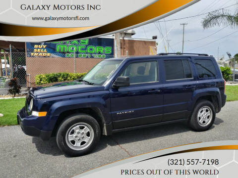 2012 Jeep Patriot for sale at Galaxy Motors Inc in Melbourne FL