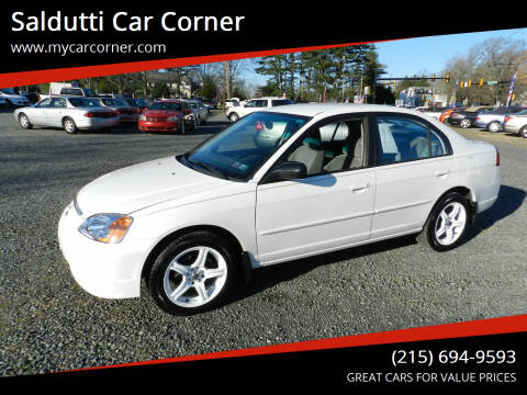 2002 Honda Civic for sale at Saldutti Car Corner in Gilbertsville PA