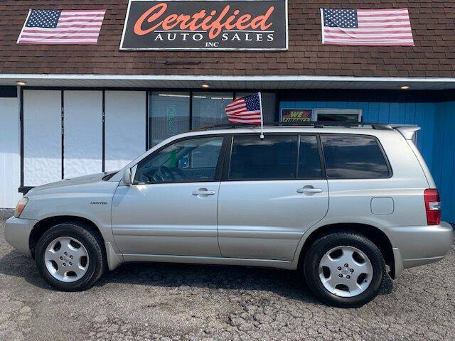 2004 Toyota Highlander for sale at Certified Auto Sales, Inc in Lorain OH
