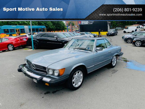 1983 Mercedes-Benz 380-Class for sale at Sport Motive Auto Sales in Seattle WA