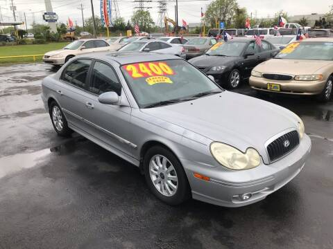 2004 Hyundai Sonata for sale at Texas 1 Auto Finance in Kemah TX