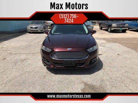 2013 Ford Fusion for sale at Max Motors in Corpus Christi TX