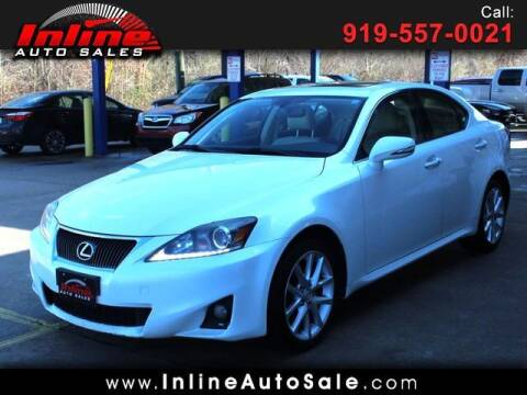 2011 Lexus IS 250 for sale at Inline Auto Sales in Fuquay Varina NC