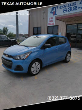 2018 Chevrolet Spark for sale at TEXAS AUTOMOBILE in Houston TX