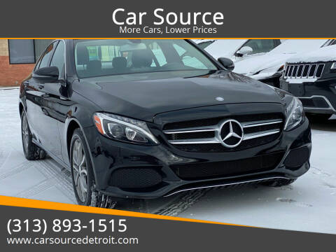 2016 Mercedes-Benz C-Class for sale at Car Source in Detroit MI