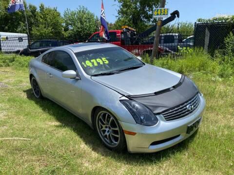 2005 Infiniti G35 for sale at C.J. AUTO SALES llc. in San Antonio TX